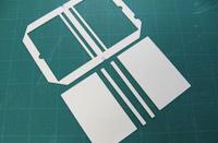 枠付き表紙芯の枠から芯部分をはずします。